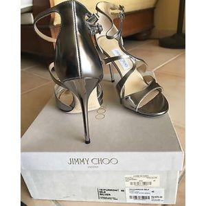 ded062cadcc Jimmy Choo Shoes - Jimmy Choo Furrow Metallic Leather Sandals